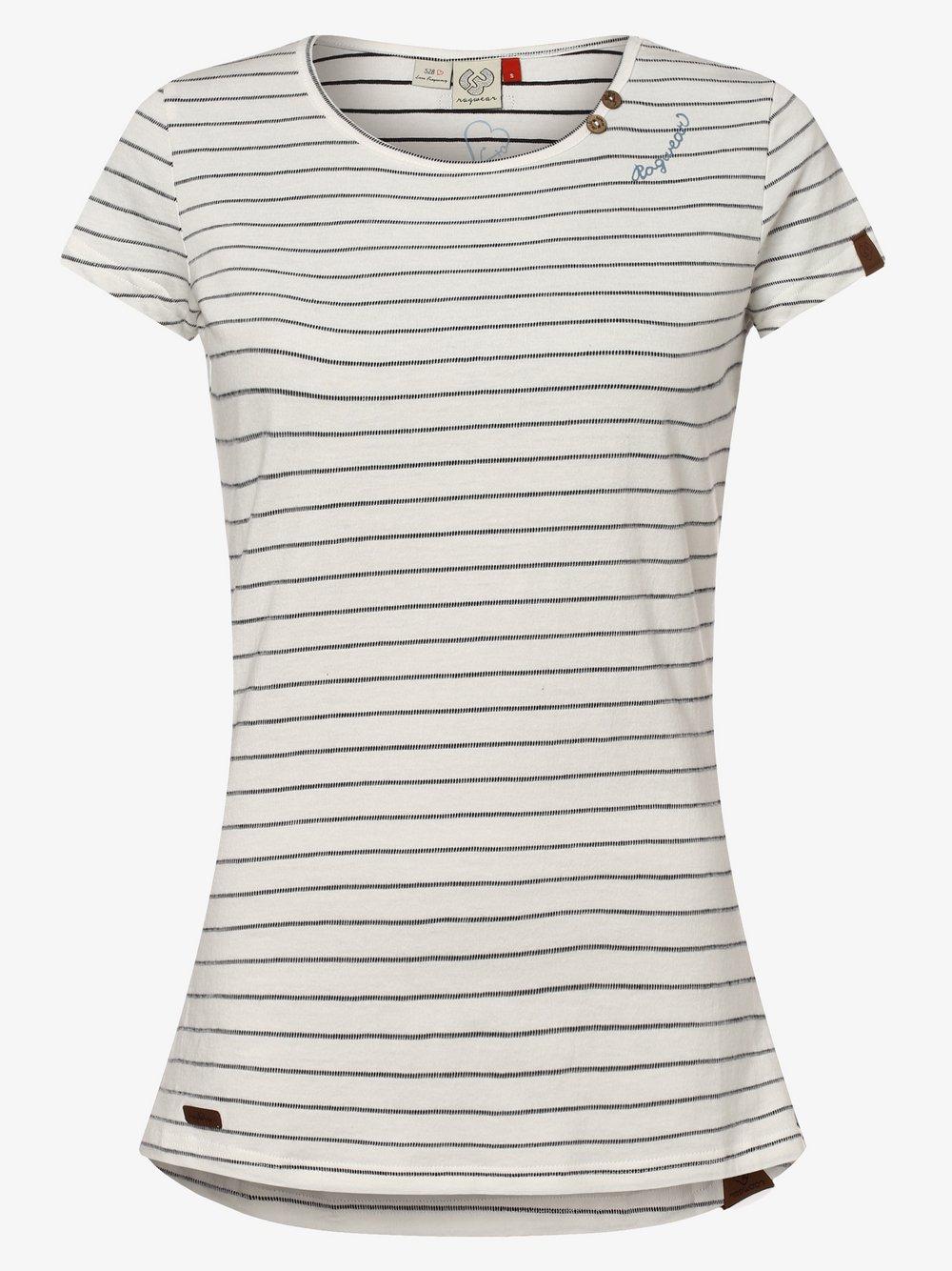 Ragwear – T-shirt damski – Mete, biały Van Graaf 467687-0001