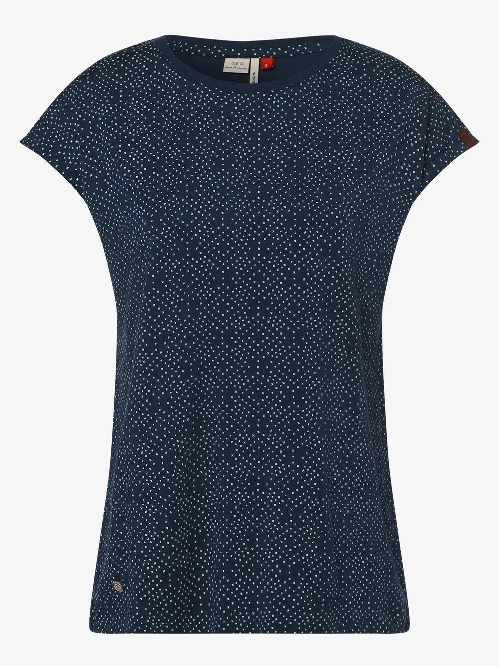 Ragwear – T-shirt damski – Dione, niebieski Van Graaf 467689-0001-09900