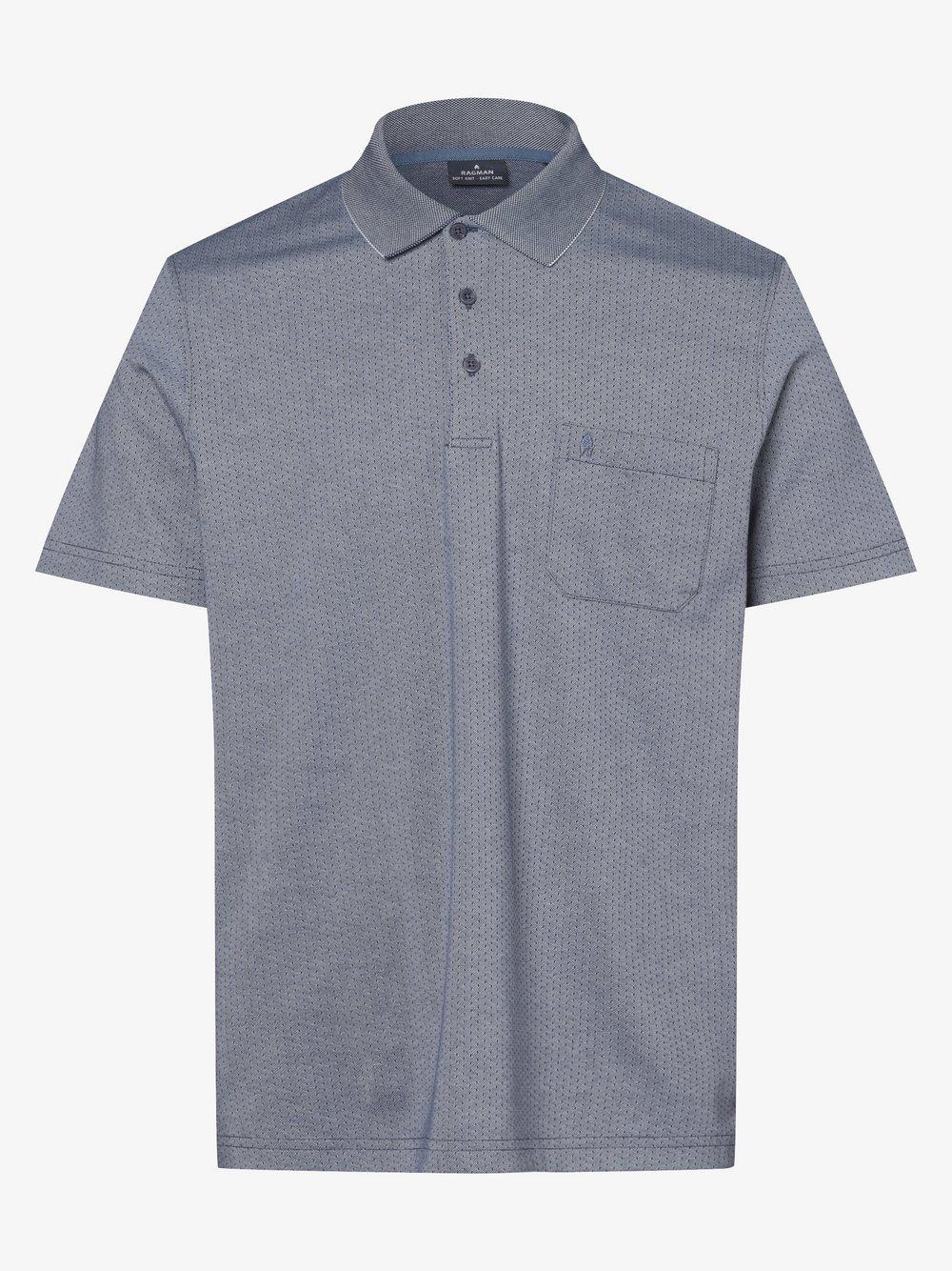 Ragman – Męska koszulka polo, niebieski Van Graaf 467737-0002-09920