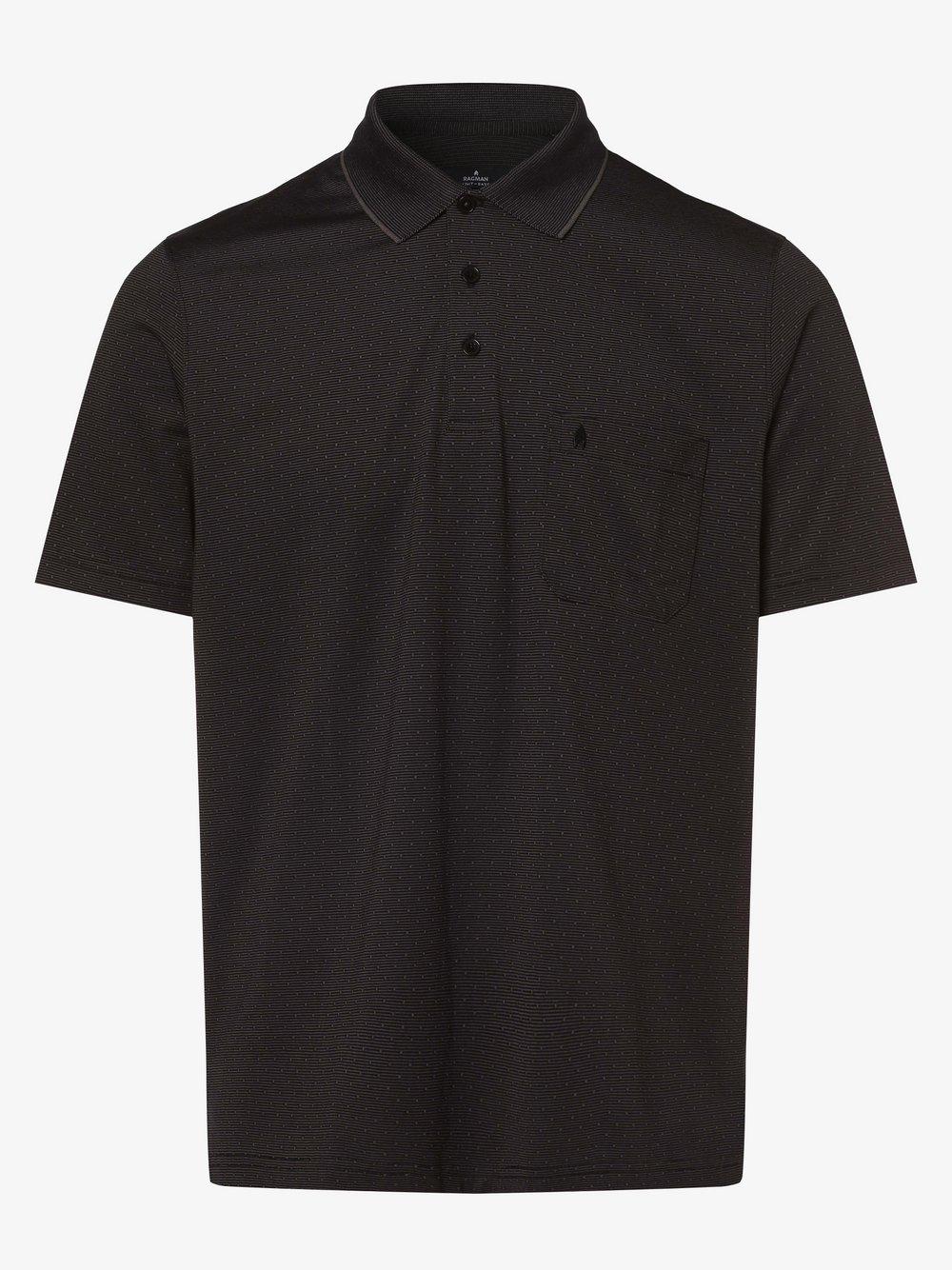 Ragman – Męska koszulka polo, czarny Van Graaf 467738-0002-09990