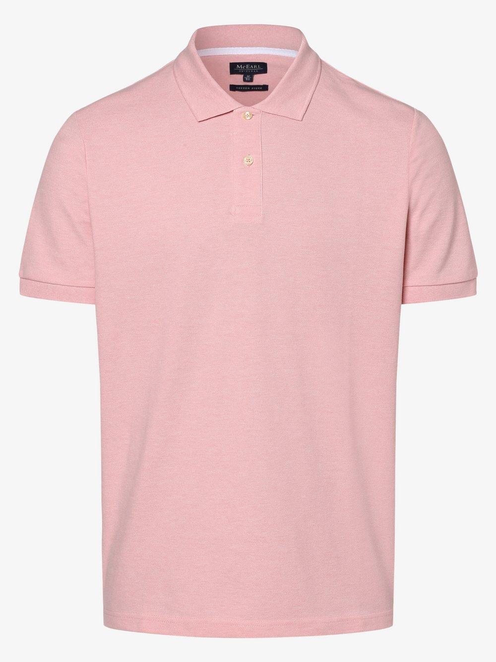 Mc Earl – Męska koszulka polo, różowy Van Graaf 467805-0015-09940