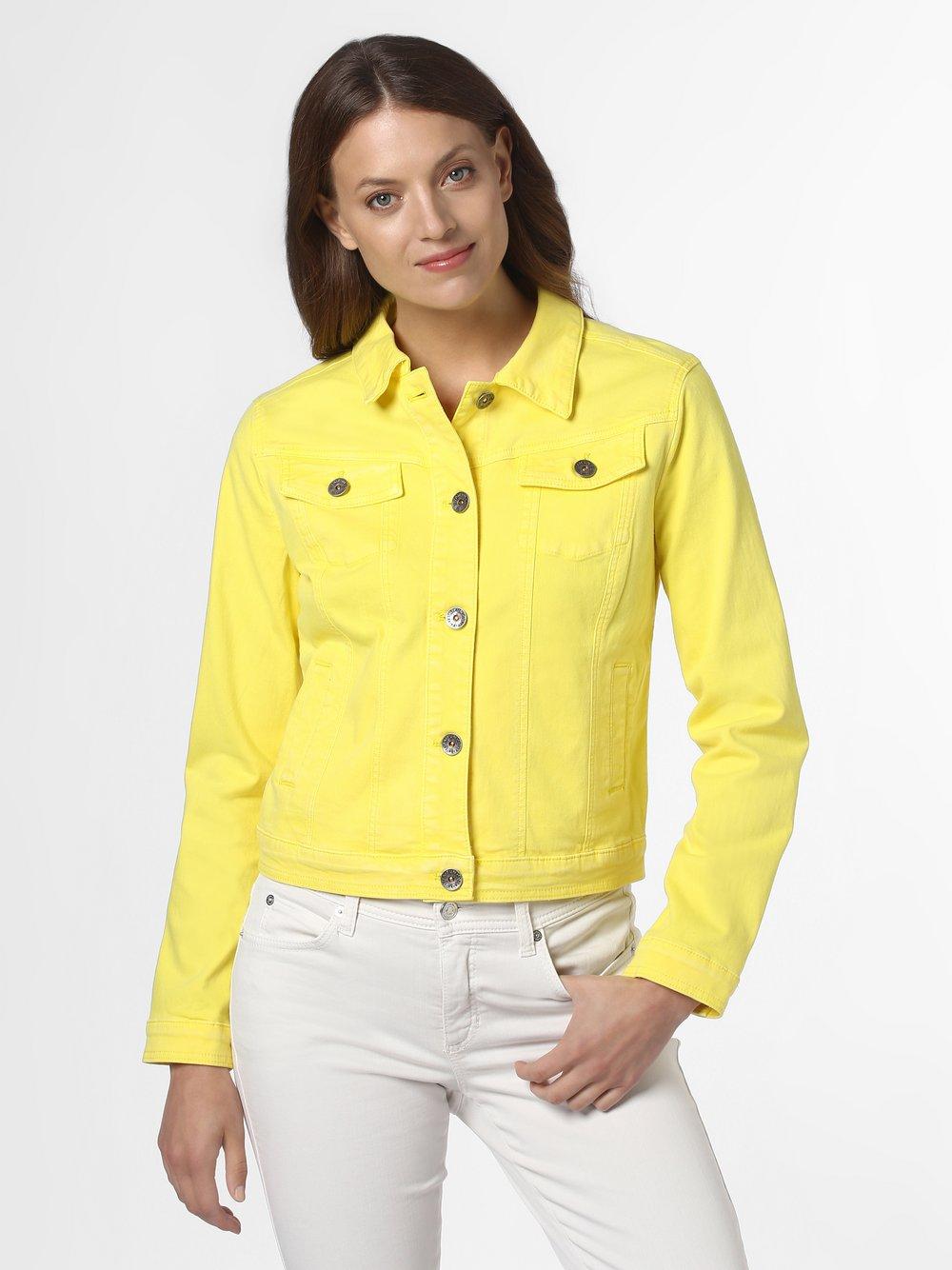 Taifun - Damska kurtka jeansowa, żółty