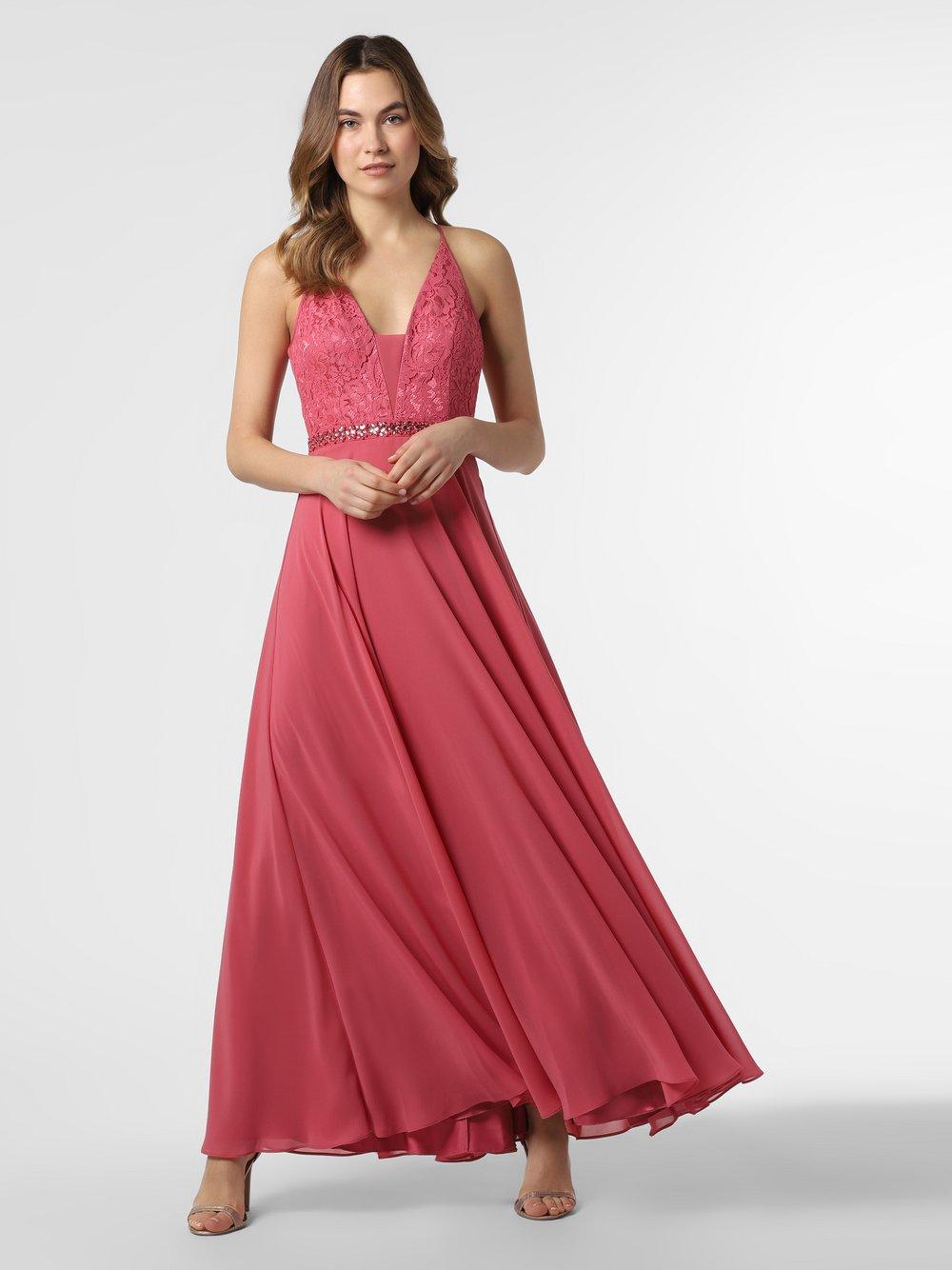 VM – Damska sukienka wieczorowa, czerwony Van Graaf 468006-0001-00320