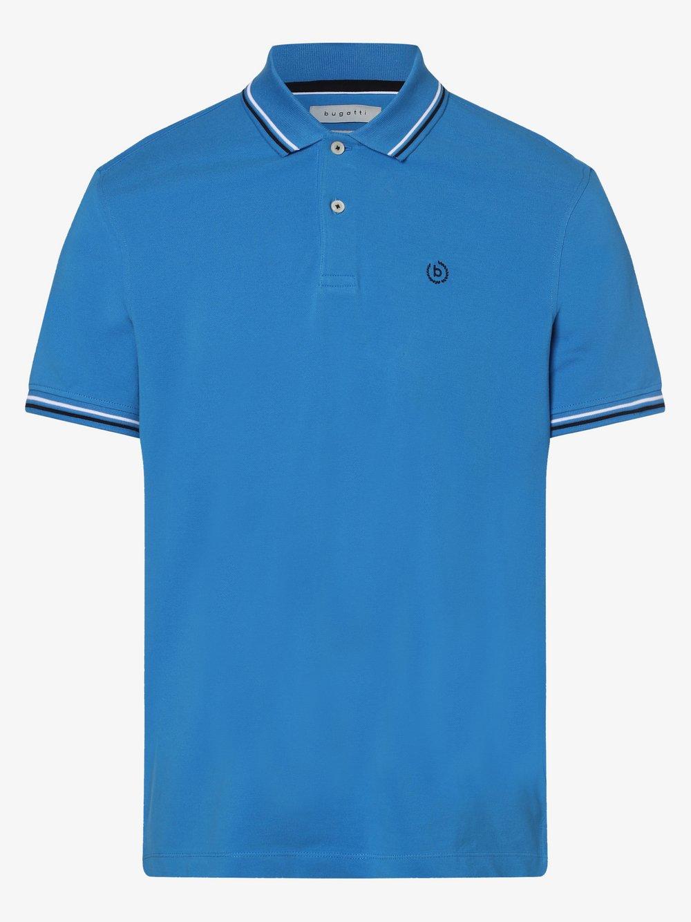 Bugatti - Męska koszulka polo, niebieski