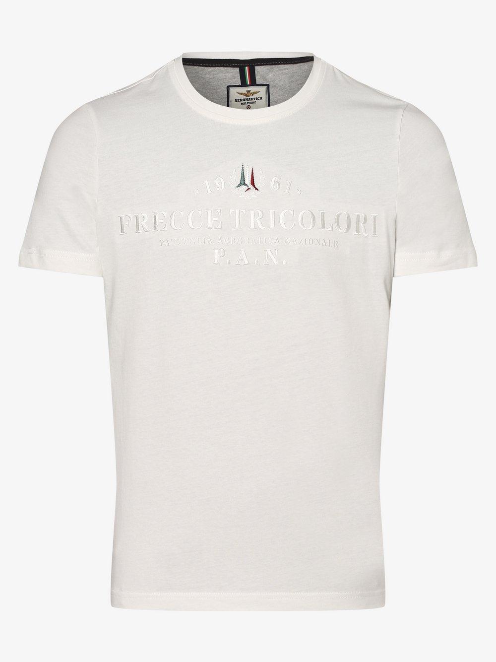 Aeronautica – T-shirt męski, biały Van Graaf 468424-0003