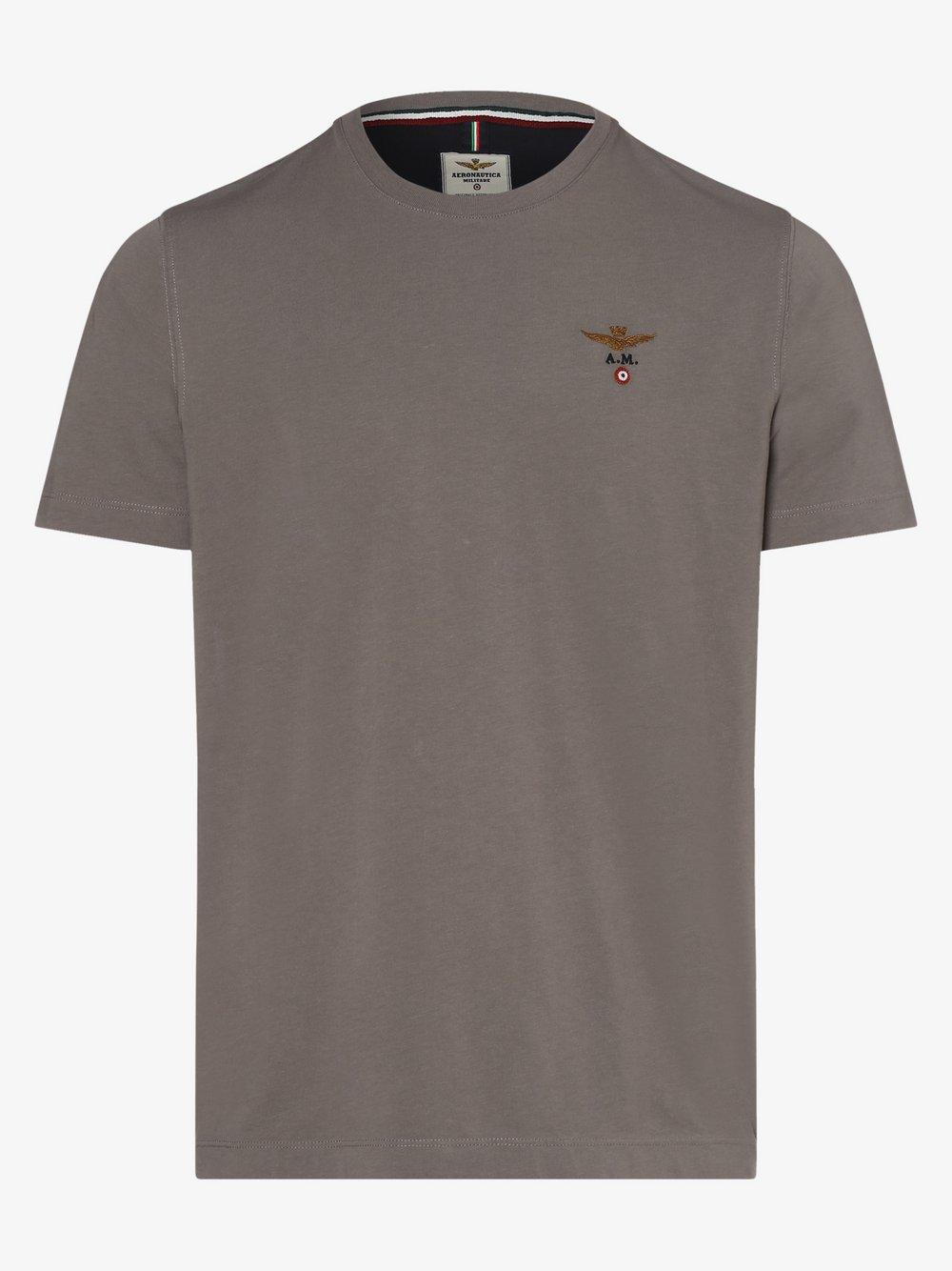Aeronautica – T-shirt męski, szary Van Graaf 468435-0003