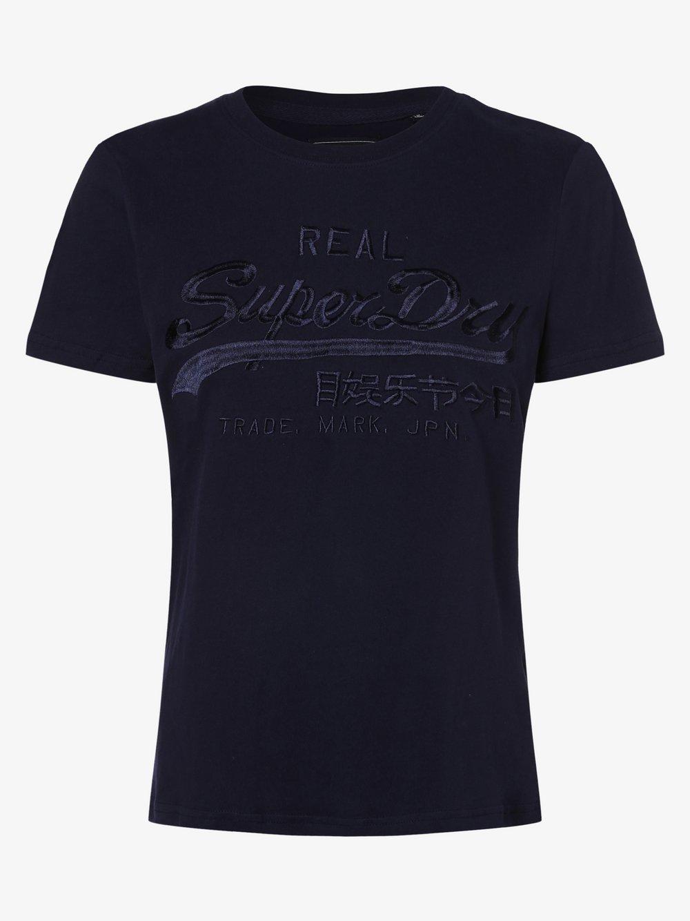 Superdry - T-shirt damski, niebieski