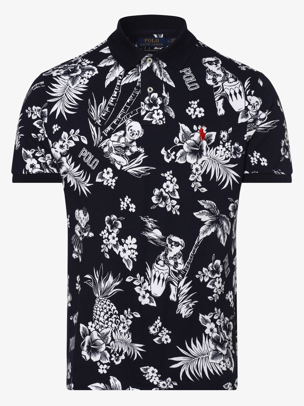 Polo Ralph Lauren - Męska koszulka polo – Custom Slim Fit, niebieski