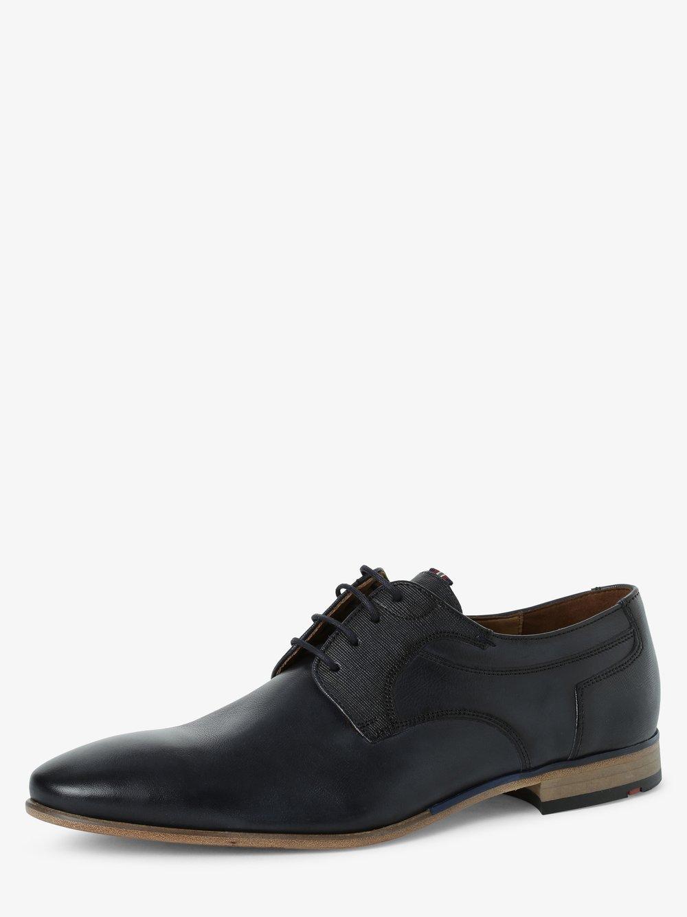 Lloyd – Męskie buty sznurowane ze skóry – Dargun, niebieski Van Graaf 468868-0001-00090