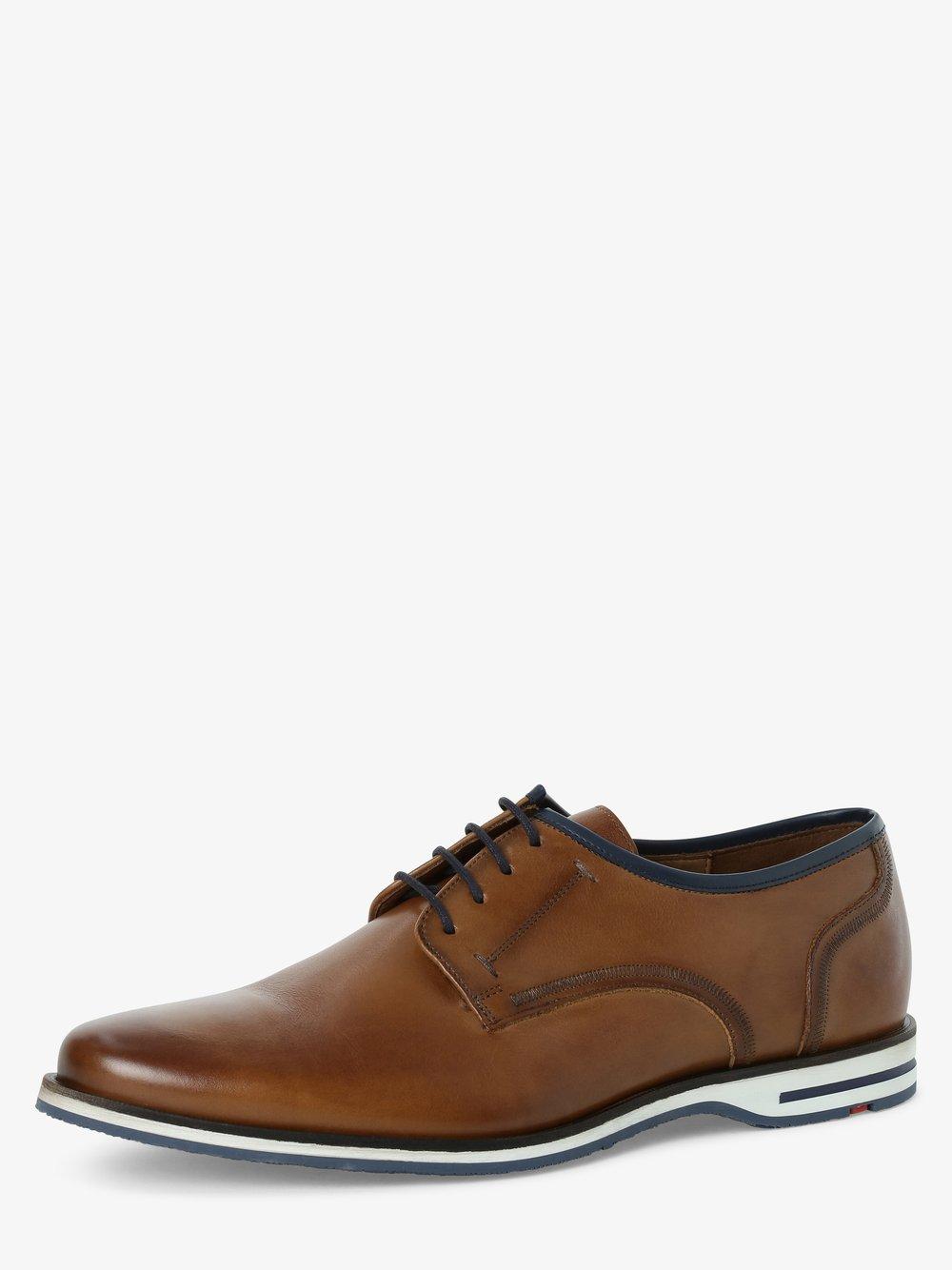 Lloyd – Męskie buty sznurowane ze skóry – Detroit, beżowy Van Graaf 468877-0001-00110