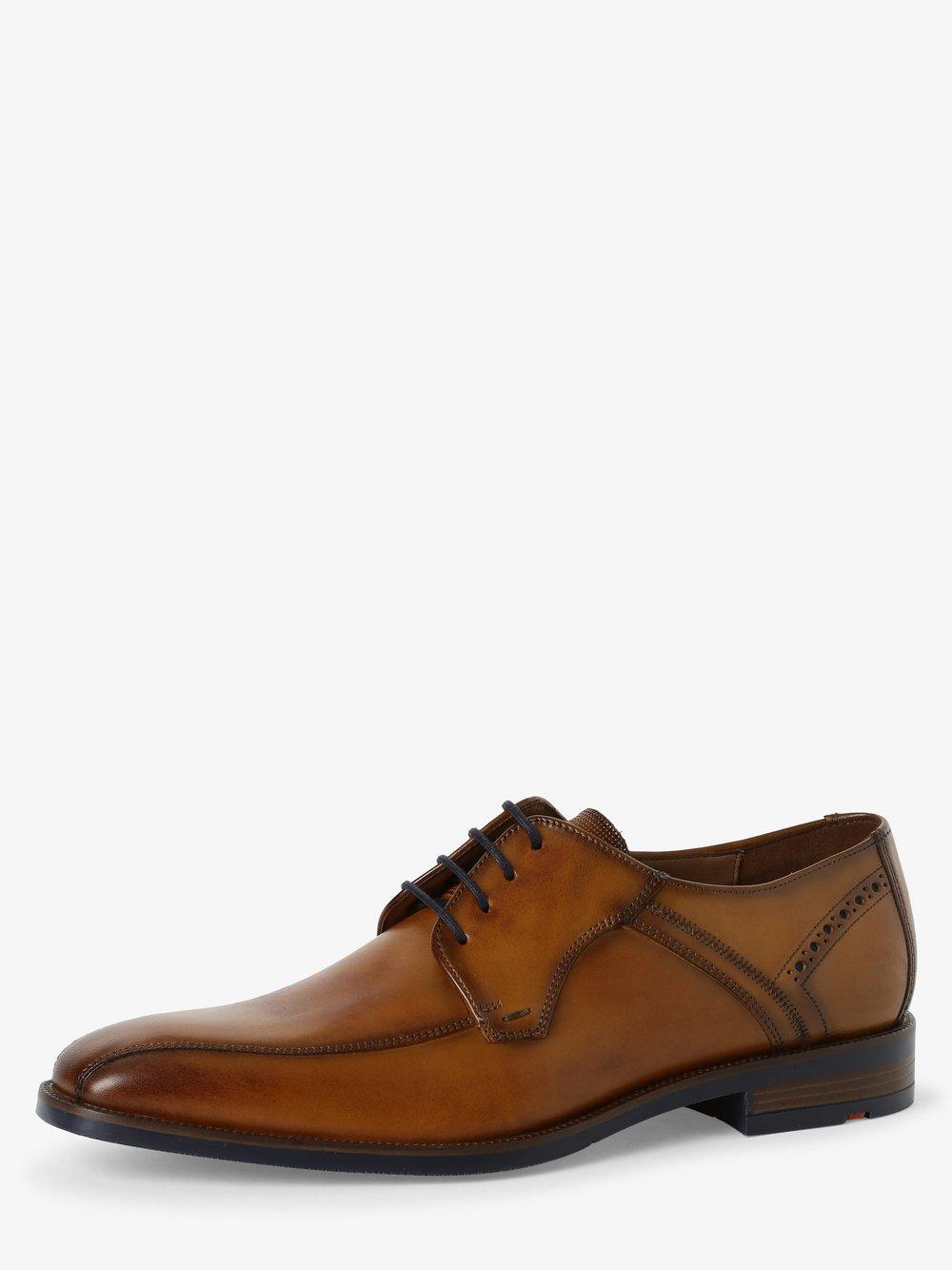 Lloyd – Męskie buty sznurowane ze skóry – Nadir, beżowy Van Graaf 468883-0001