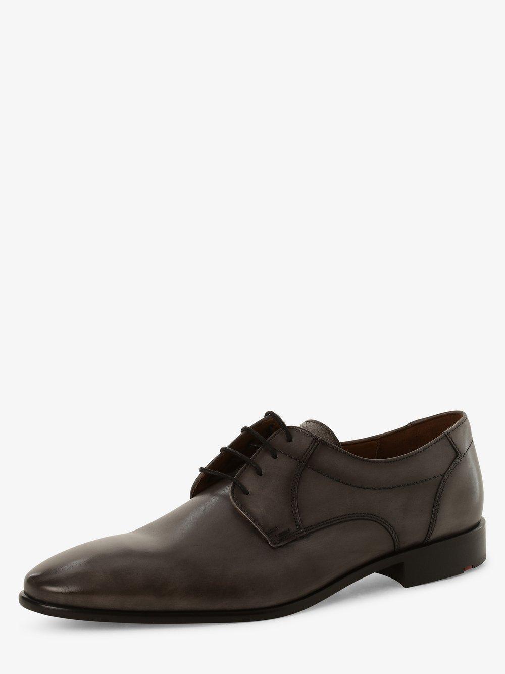 Lloyd – Męskie buty sznurowane ze skóry, szary Van Graaf 468889-0001-00095