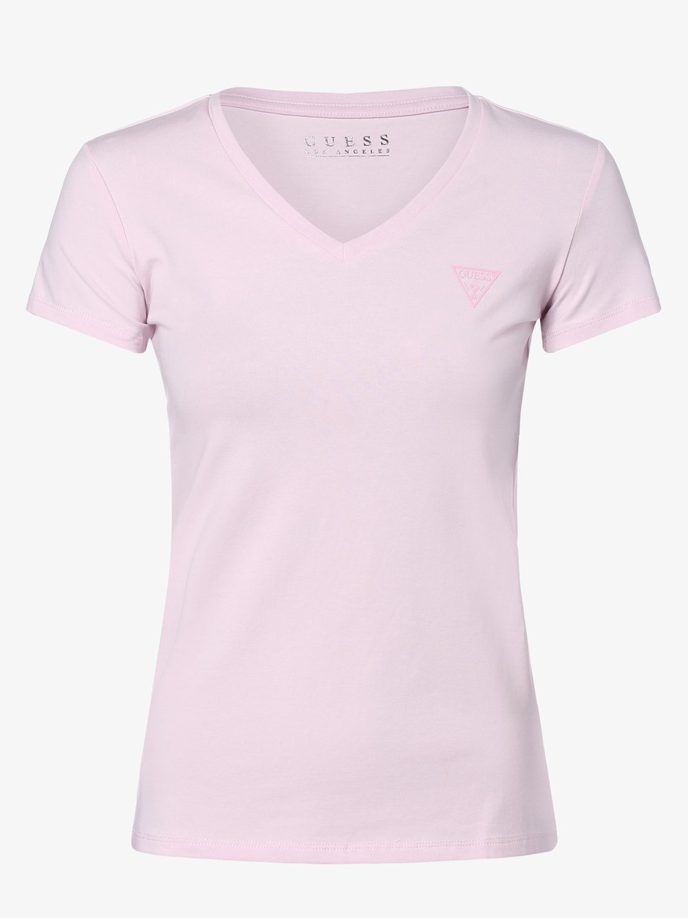 Guess Jeans - T-shirt damski, różowy