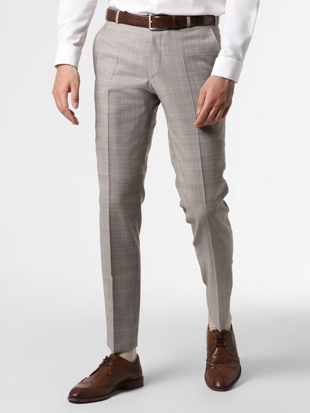 Wilvorst - Męskie spodnie od garnituru modułowego, beżowy