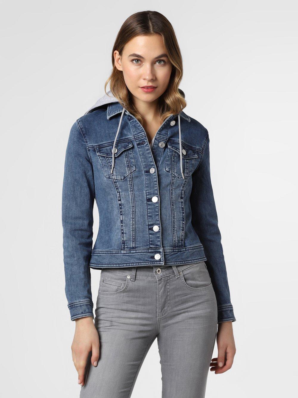 comma casual identity - Damska kurtka jeansowa, niebieski