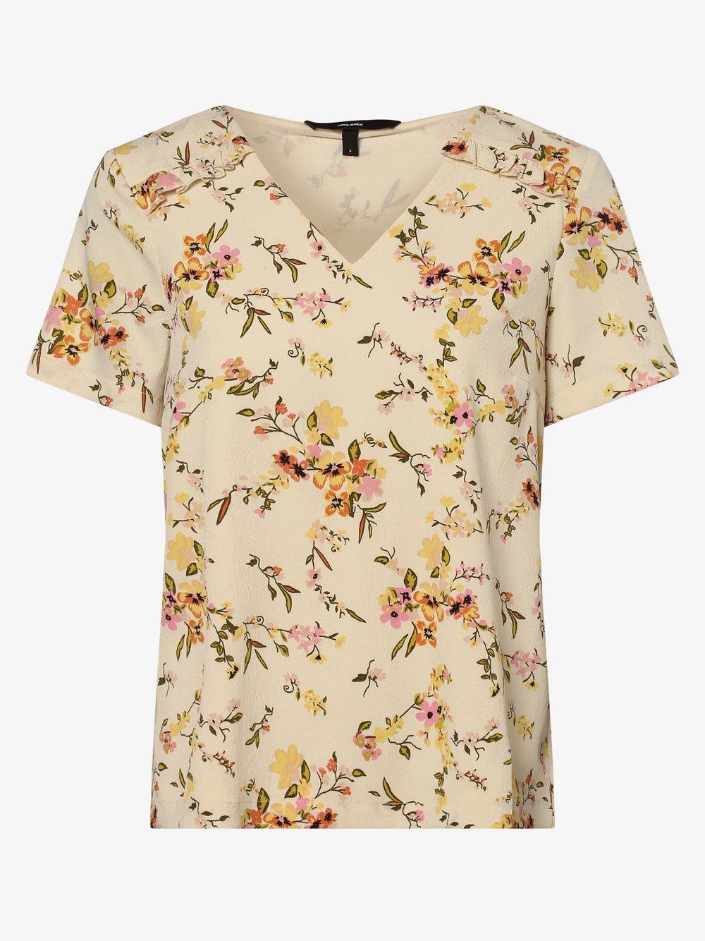 Vero Moda – Bluzka damska – Vmkissey, beżowy Van Graaf 469124-0001-09920