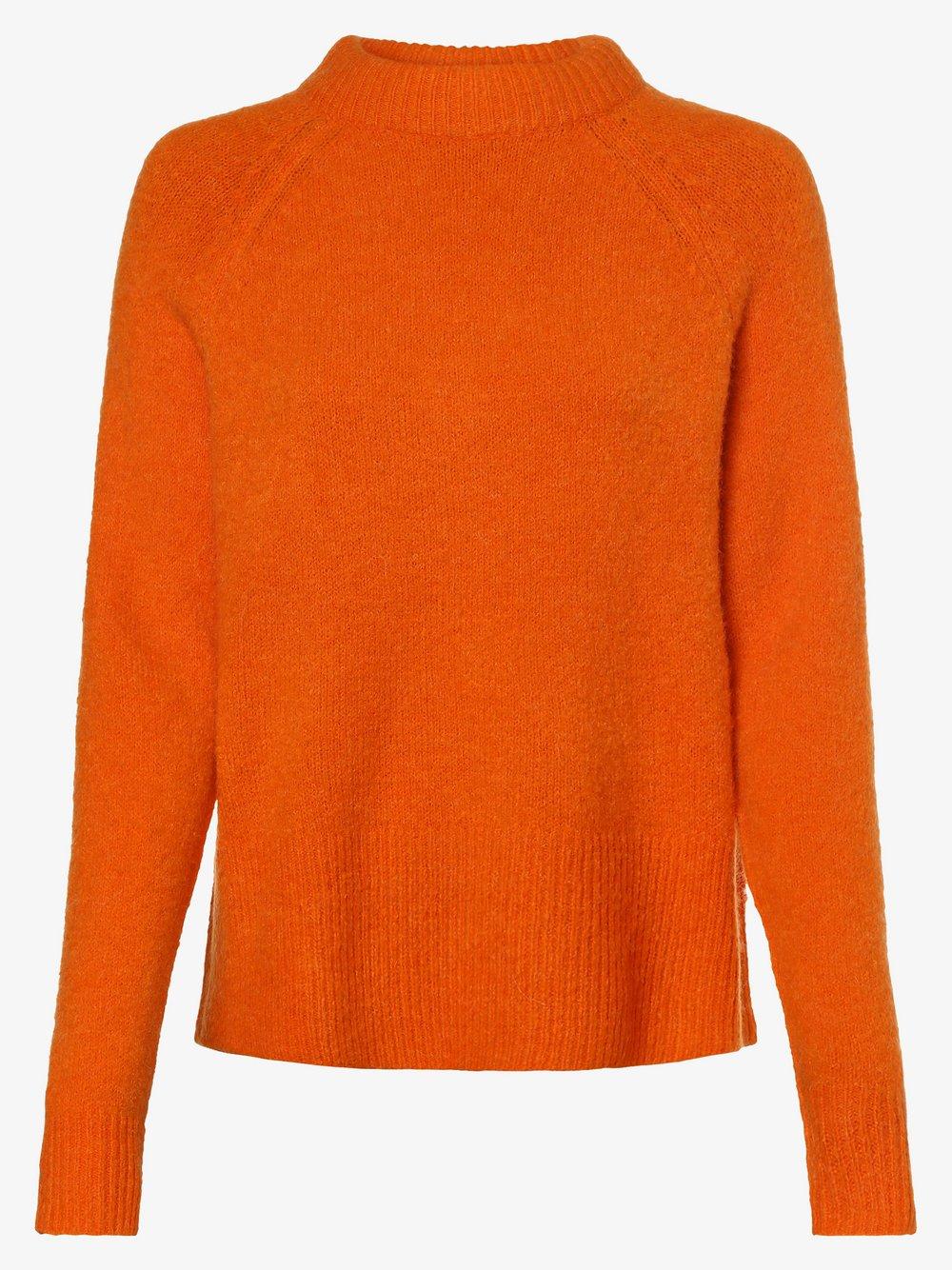 Y.A.S - Sweter damski z dodatkiem alpaki – Yasneona, pomarańczowy