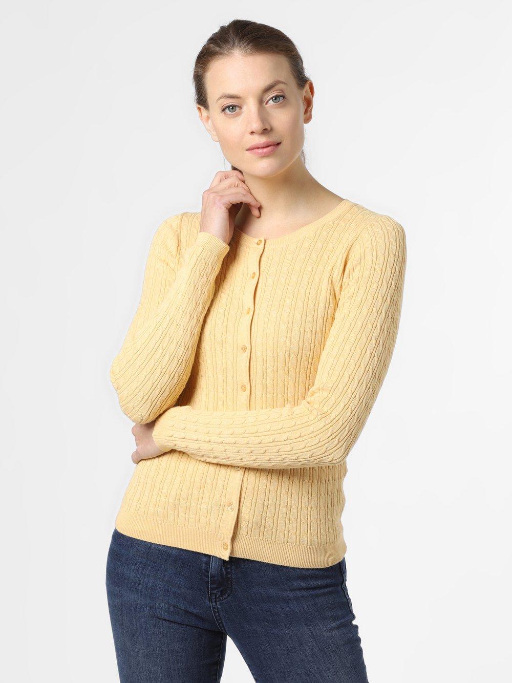 Marie Lund - Kardigan damski, żółty