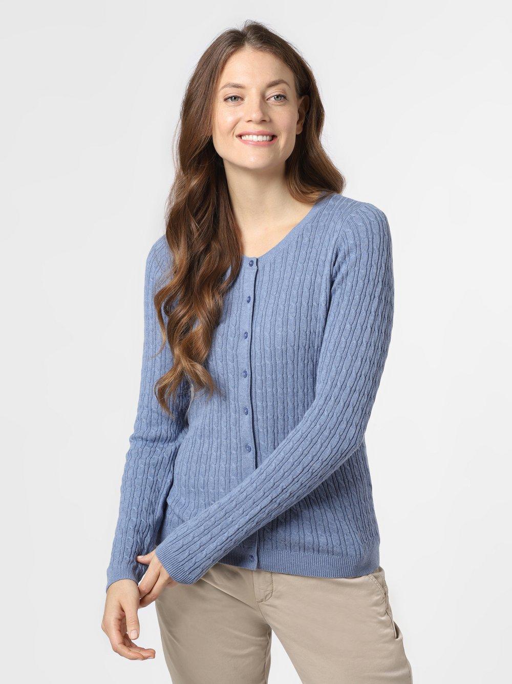 Marie Lund - Kardigan damski, niebieski
