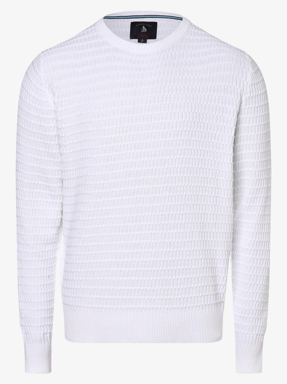 Andrew James Sailing - Sweter męski, biały