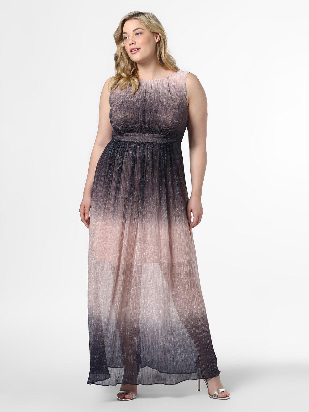 Swing Curve - Damska sukienka wieczorowa, różowy