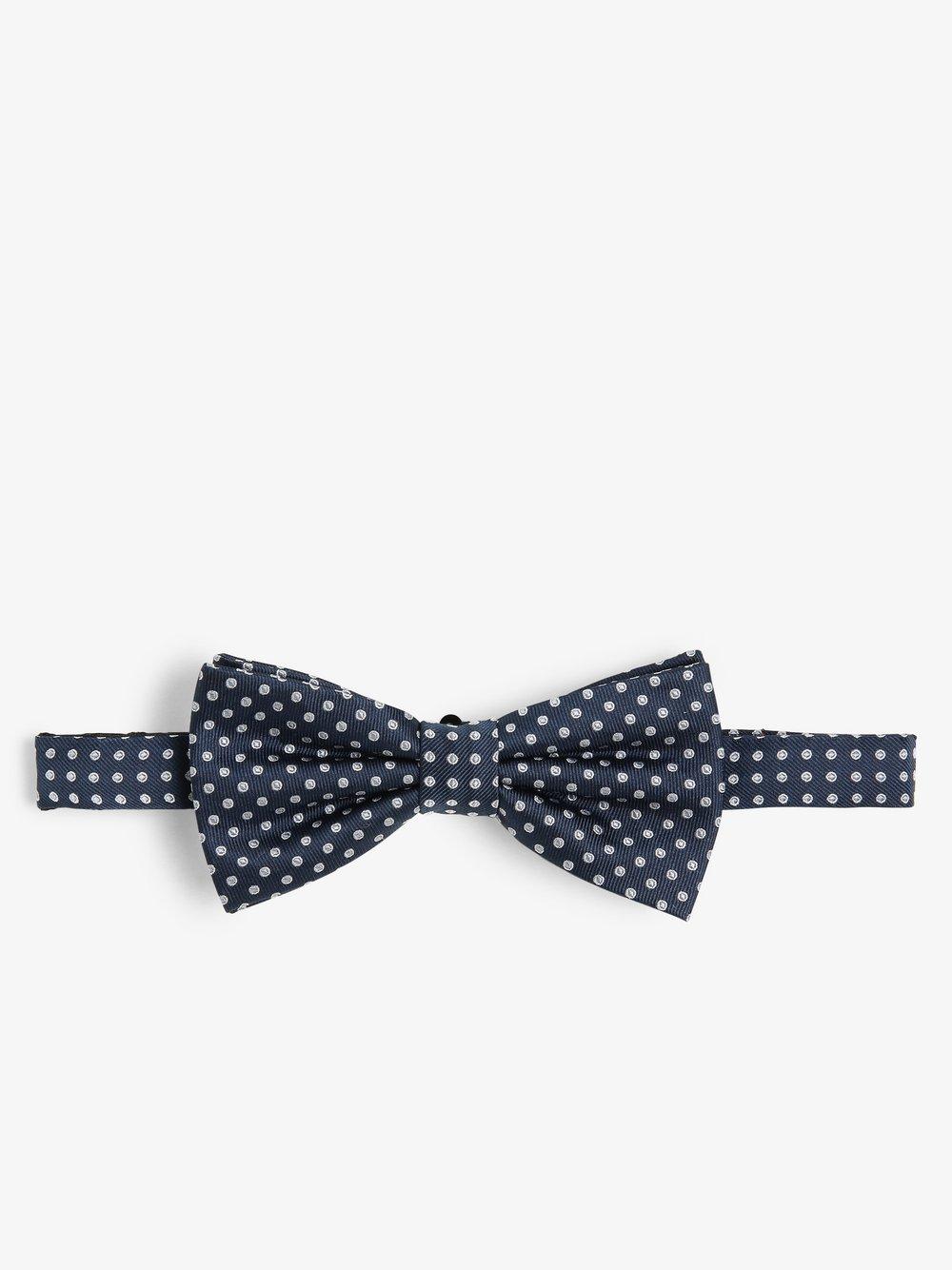 Finshley & Harding London – Muszka i poszetka męska z jedwabiu, niebieski Van Graaf 469714-0001