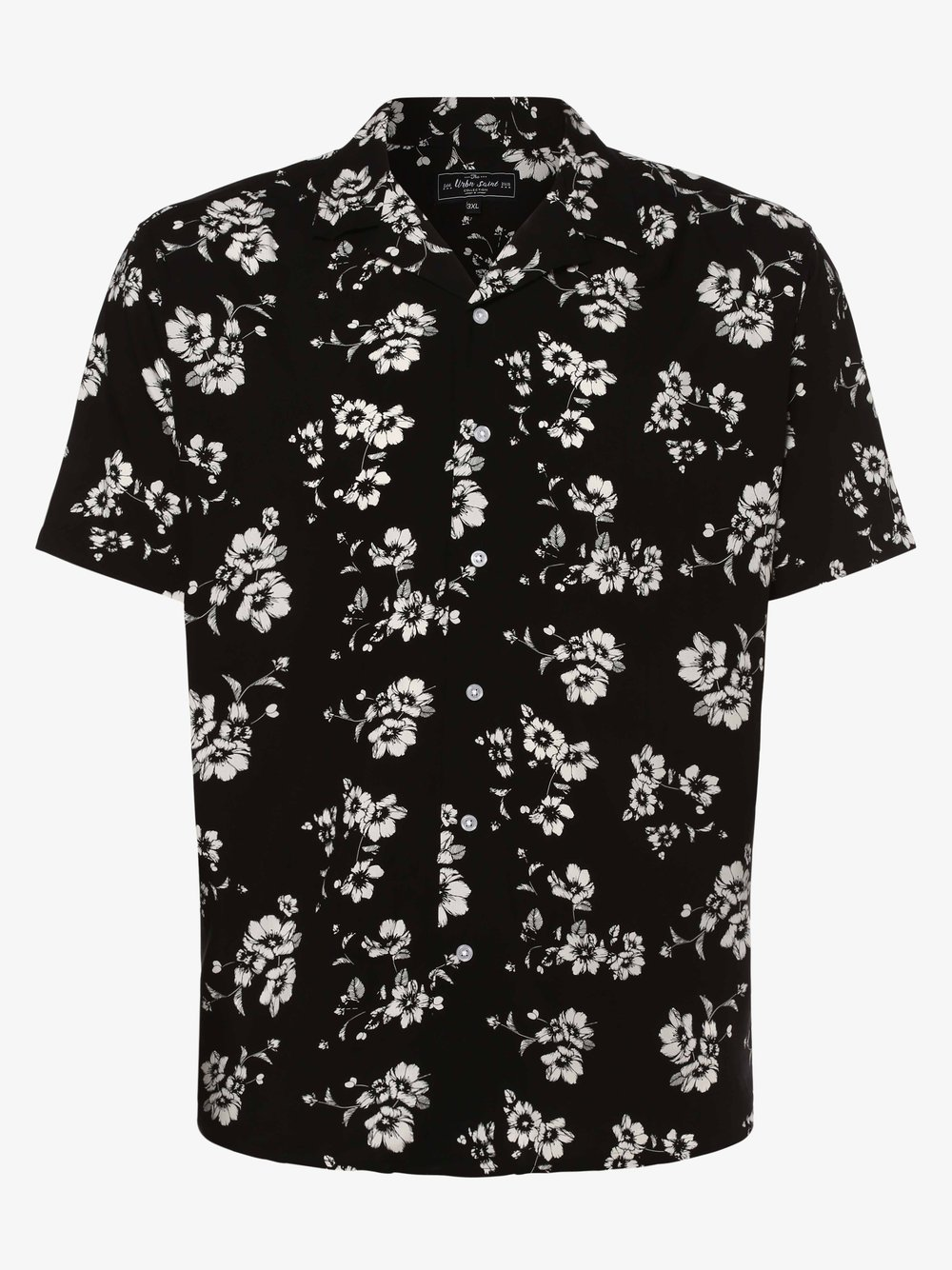 URBN SAINT – Koszula męska – USLake, czarny Van Graaf 469724-0003-09996