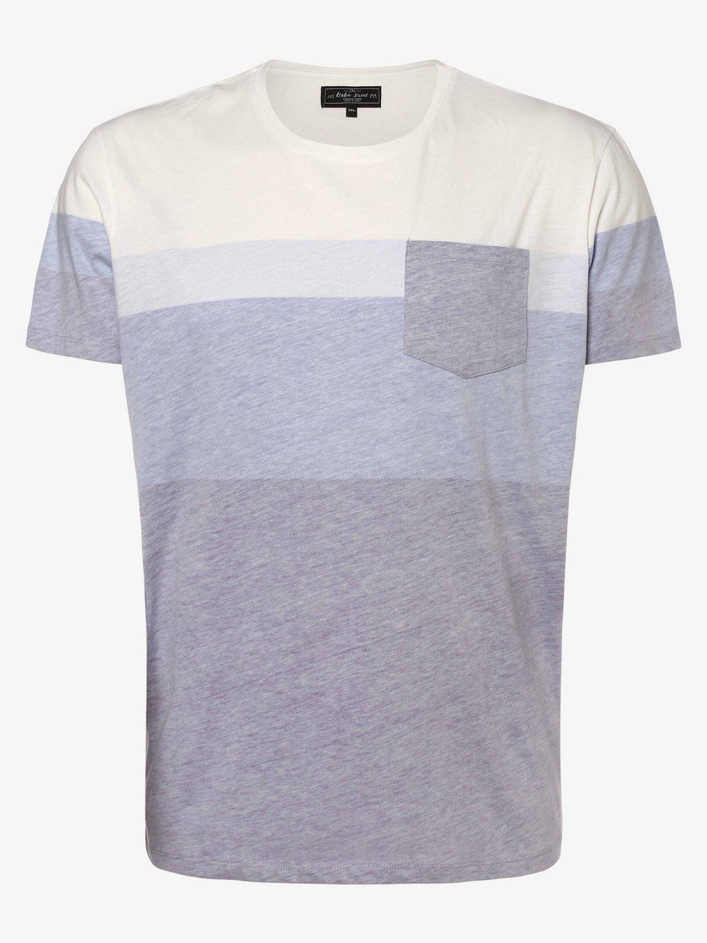 URBN SAINT – T-shirt męski – Dex, niebieski Van Graaf 469725-0002-09996