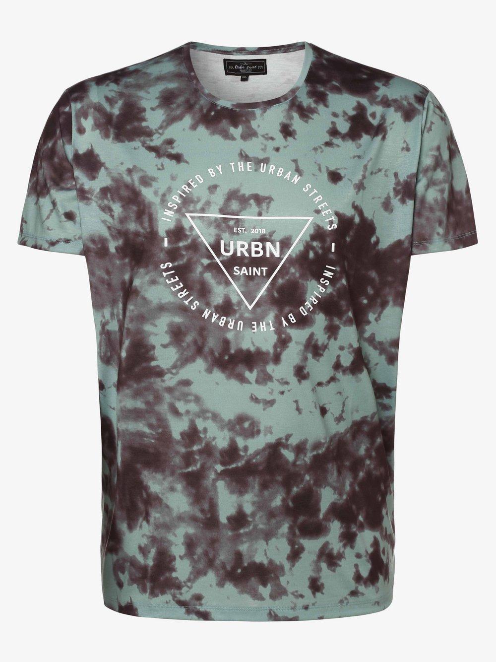 URBN SAINT – T-shirt męski – USThome, zielony Van Graaf 469726-0001-09995