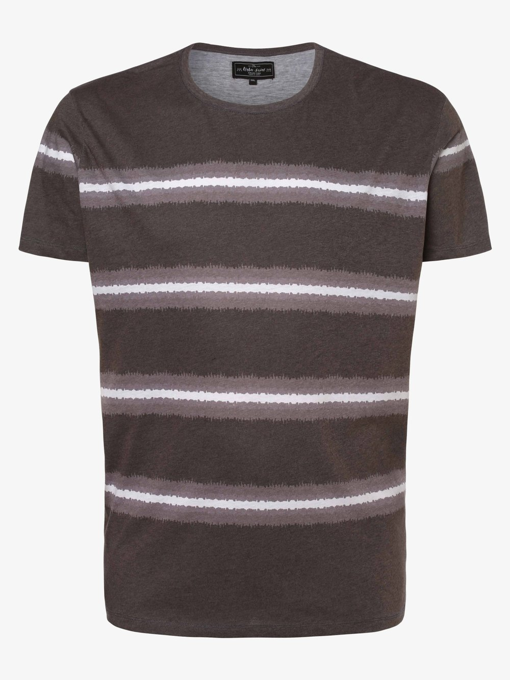 URBN SAINT – T-shirt męski – USTurn, czarny Van Graaf 469727-0001-09996