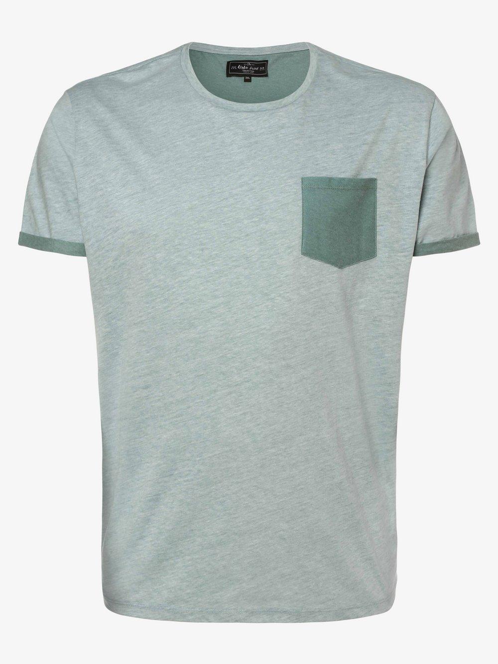 URBN SAINT – T-shirt męski – USSUN, zielony Van Graaf 469728-0001-09987