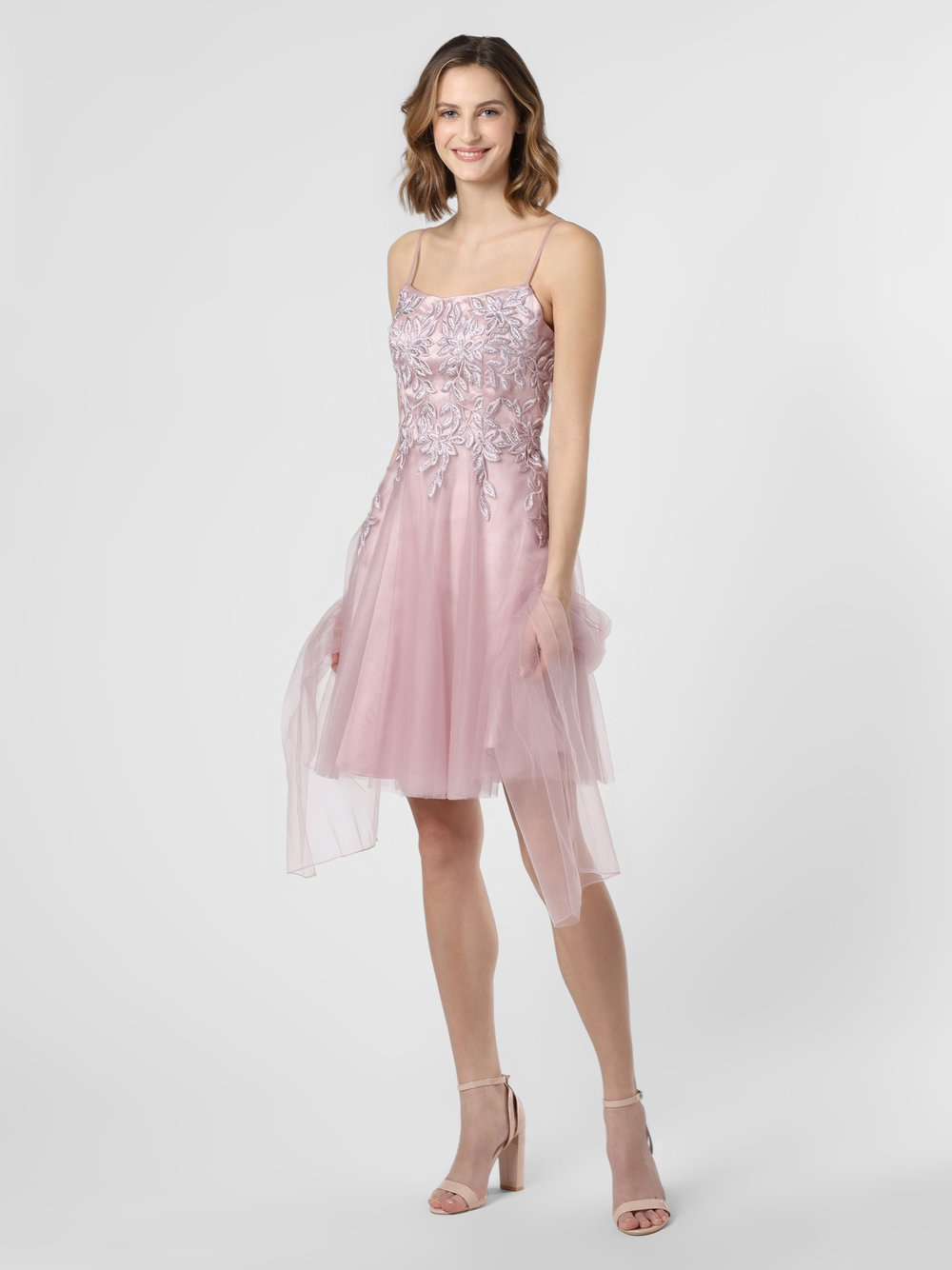 Luxuar Fashion – Damska sukienka wieczorowa z etolą, różowy Van Graaf 469743-0001-00340