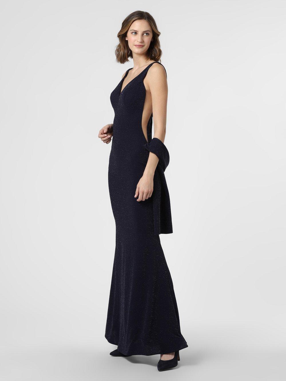 Luxuar Fashion – Damska sukienka wieczorowa z etolą, niebieski Van Graaf 469745-0001-00380