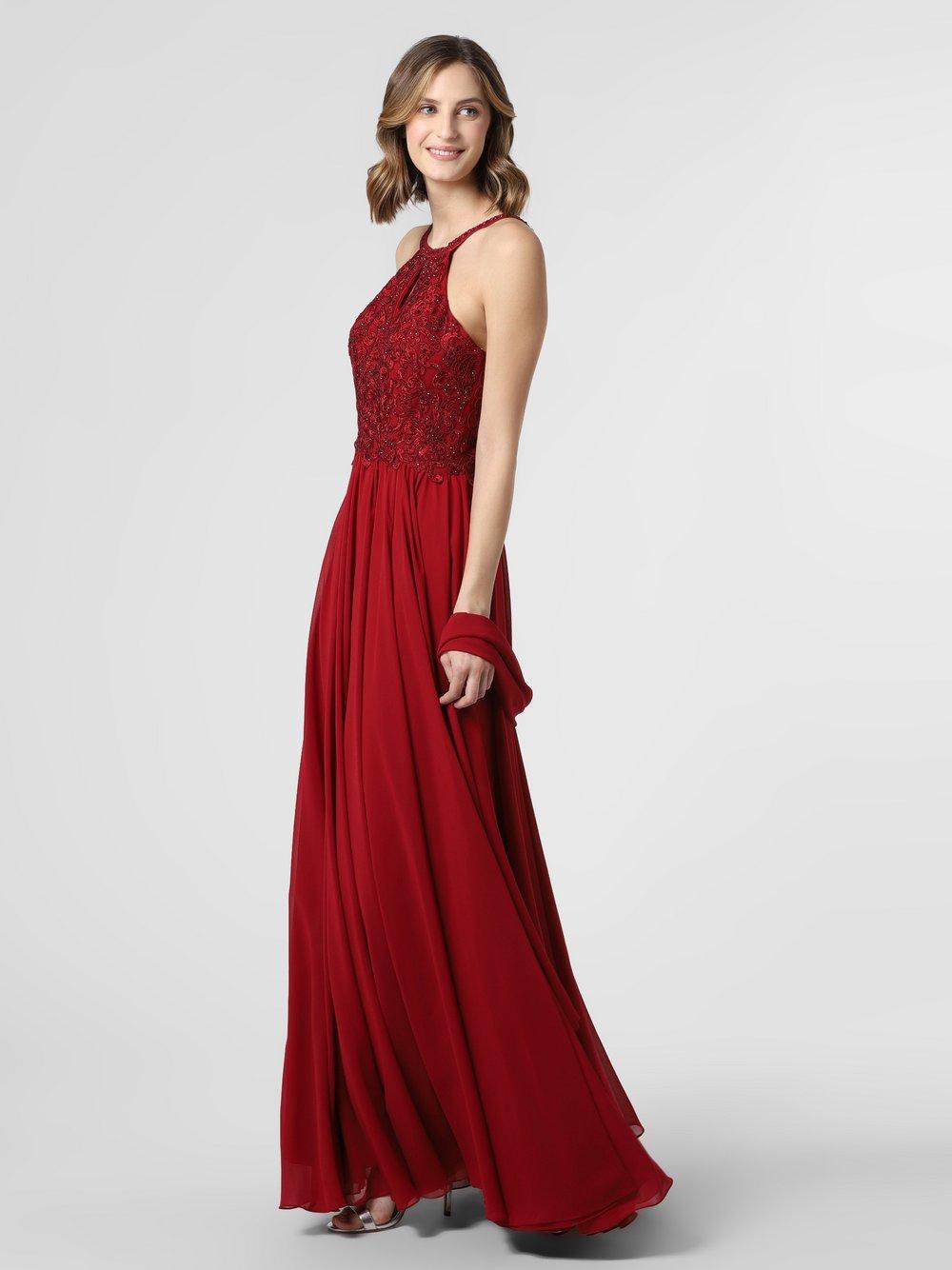 Luxuar Fashion – Damska sukienka wieczorowa z etolą, czerwony Van Graaf 469750-0001-00400
