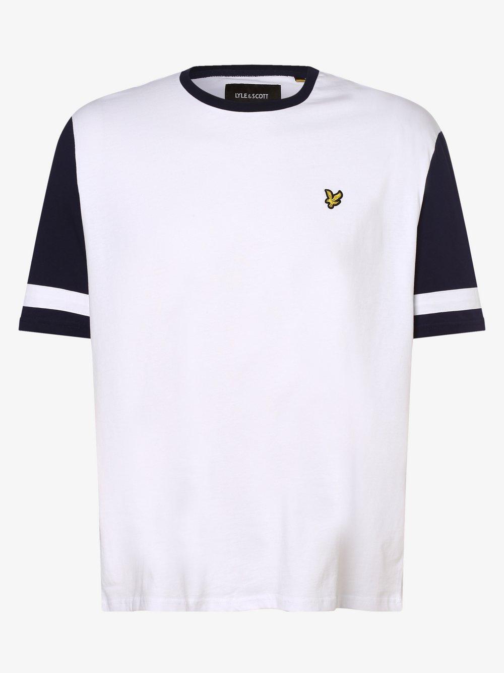 Lyle & Scott – T-shirt męski, biały Van Graaf 469803-0001-09995