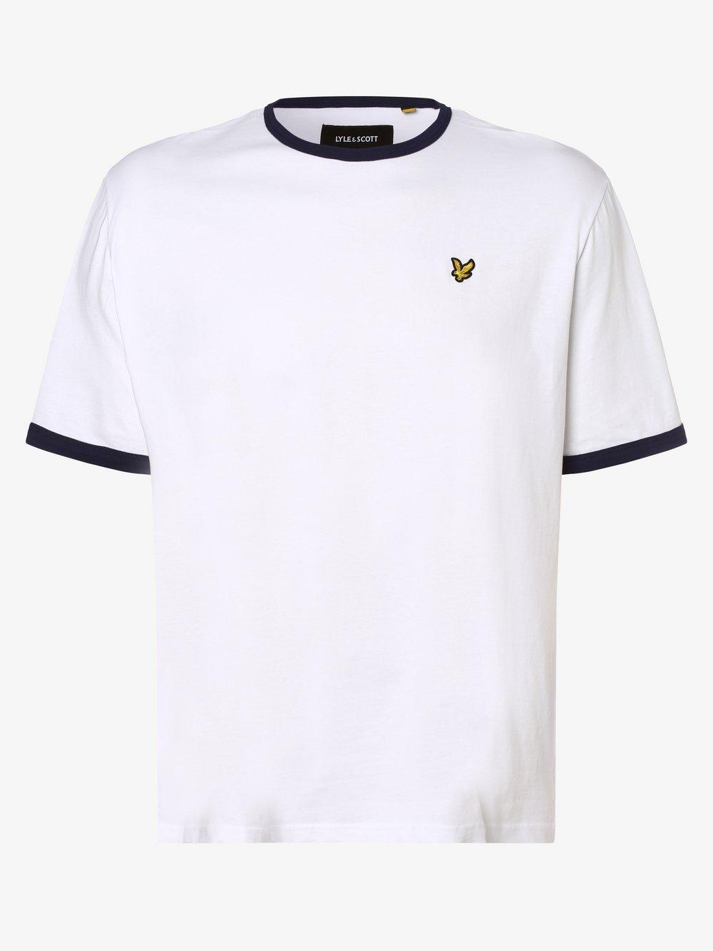 Lyle & Scott – T-shirt męski, biały Van Graaf 469805-0001