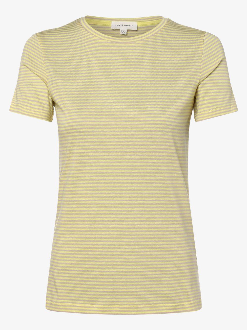 ARMEDANGELS - T-shirt damski – Lidaa, żółty