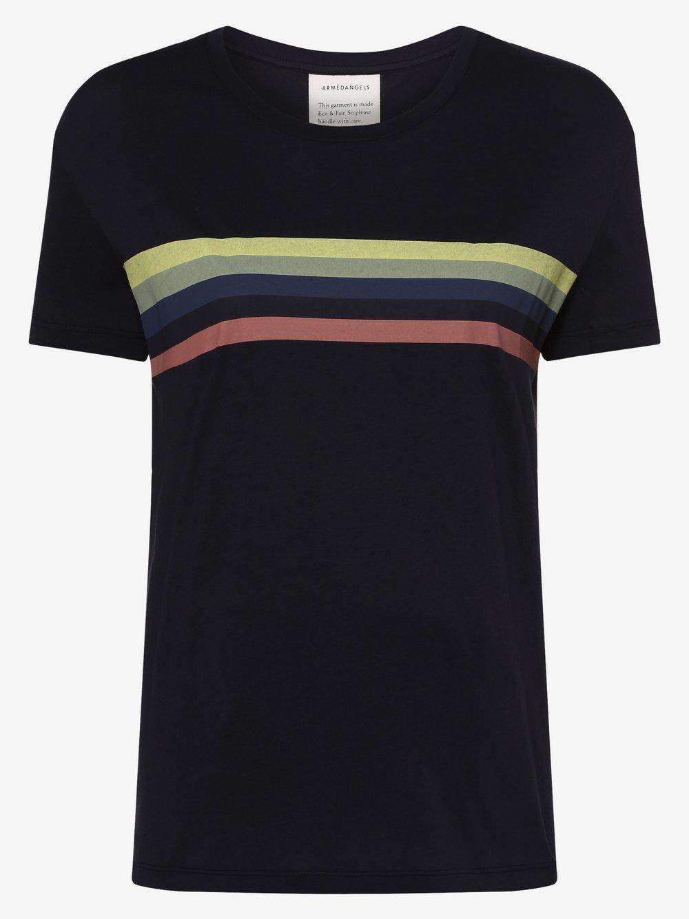 ARMEDANGELS - T-shirt damski – Nelaa, niebieski