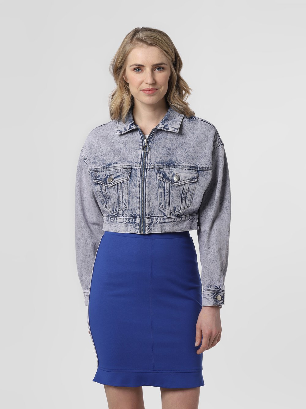 Pepe Jeans - Damska kurtka jeansowa – Rogue Acid, niebieski