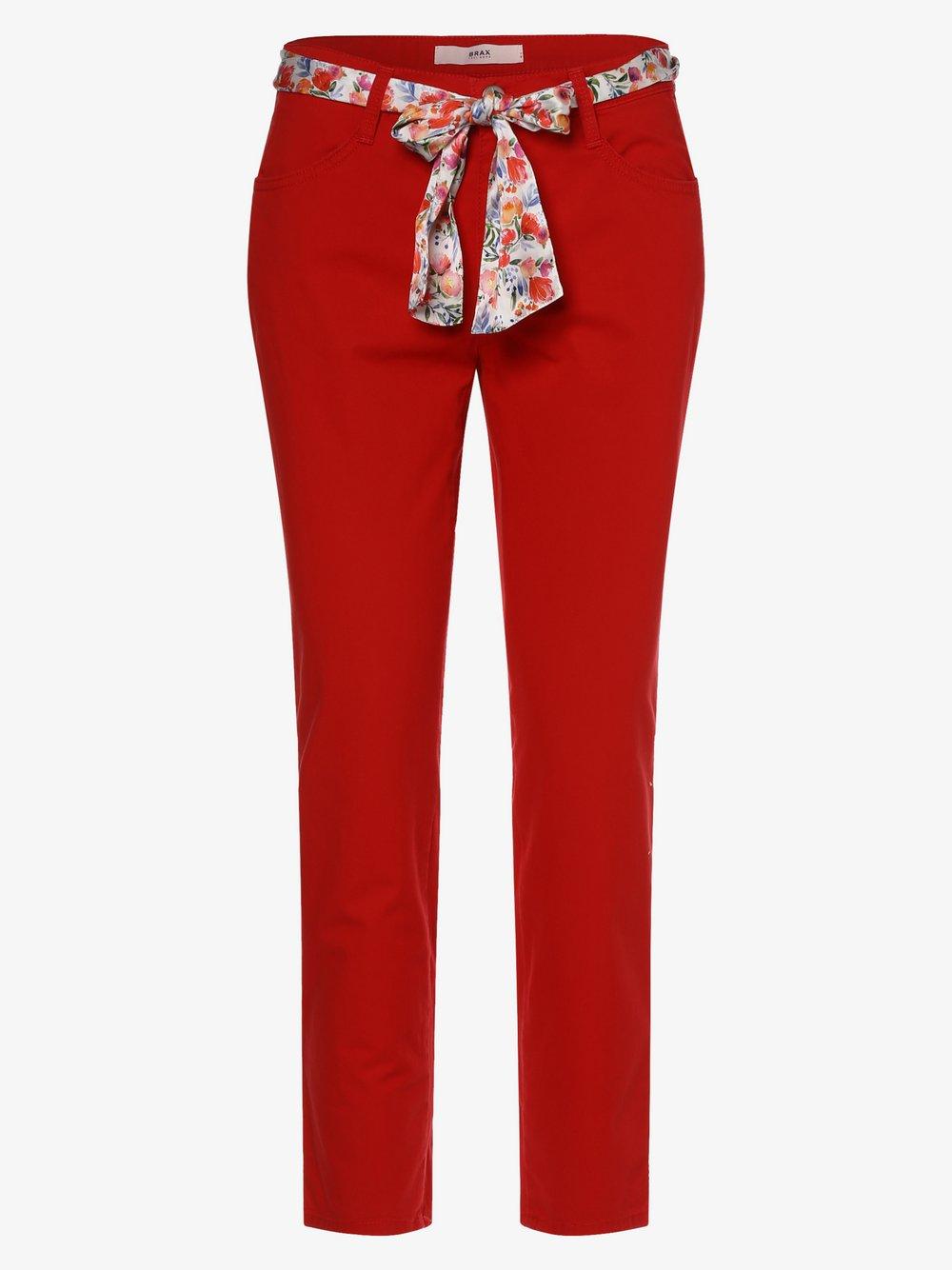 BRAX - Spodnie damskie – Sara S, czerwony