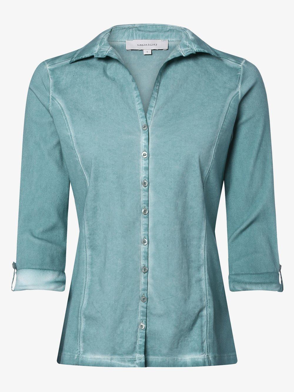 Apriori – Bluzka damska, niebieski Van Graaf 470091-0004-09920
