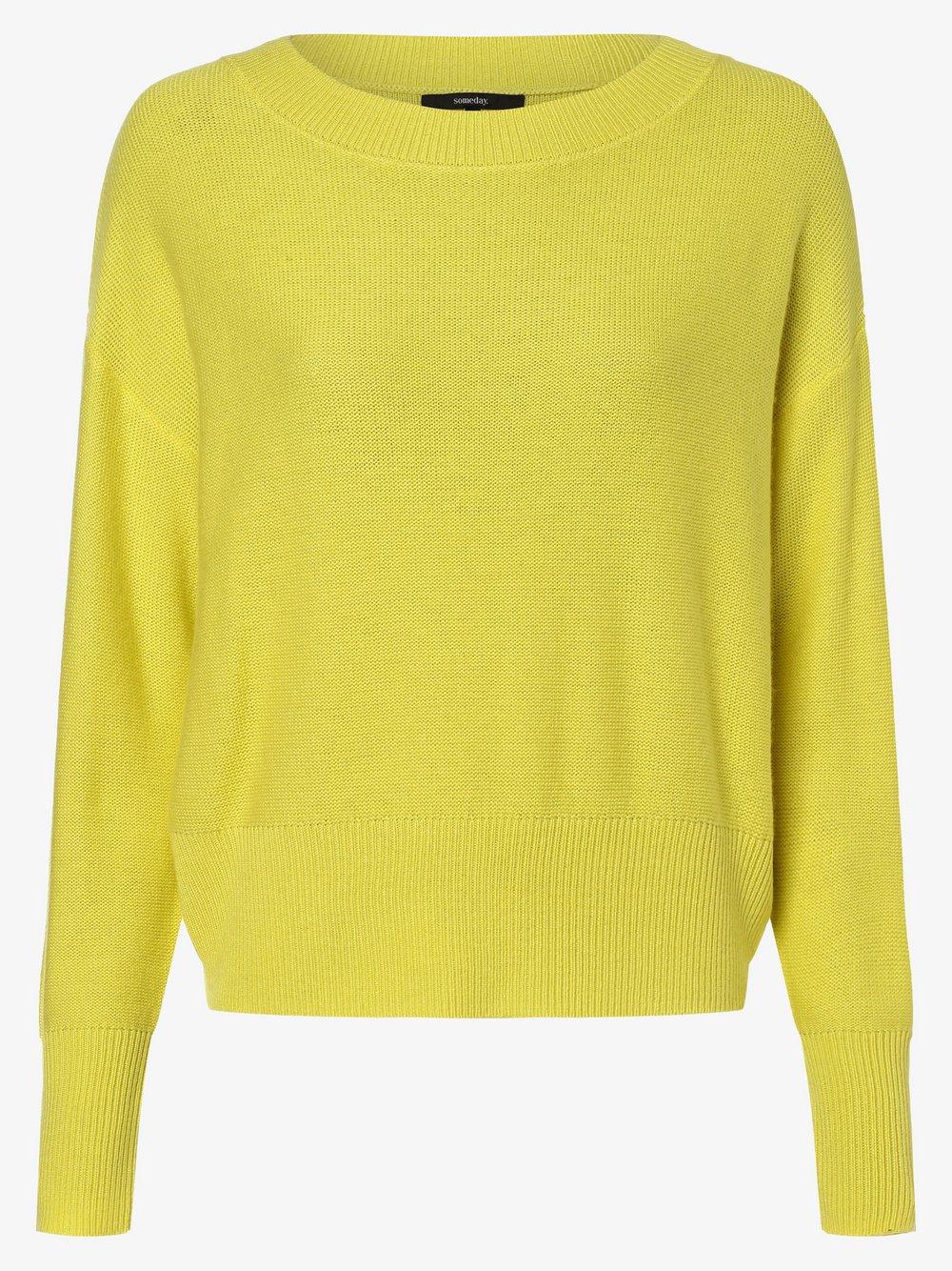 Someday - Sweter damski z dodatkiem kaszmiru – Thalita, żółty