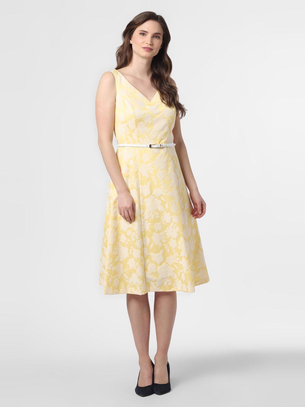 comma - Sukienka damska, żółty