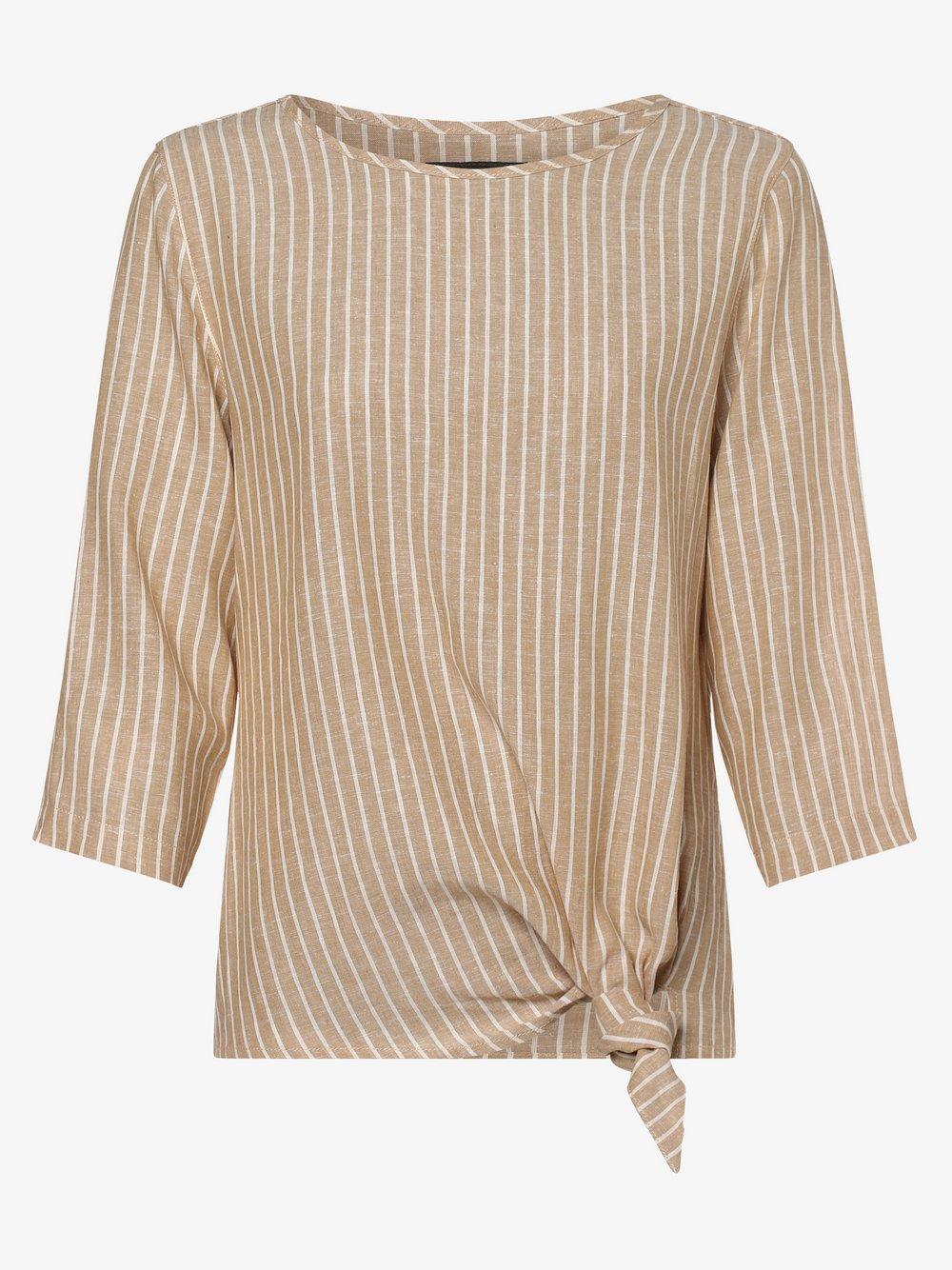 Franco Callegari – Bluzka damska z dodatkiem lnu, beżowy Van Graaf 470647-0001-00400