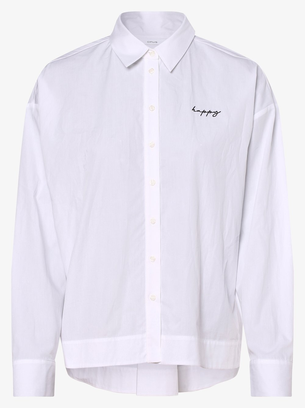 Opus – Bluzka damska – Flarine, biały Van Graaf 470730-0001-00380