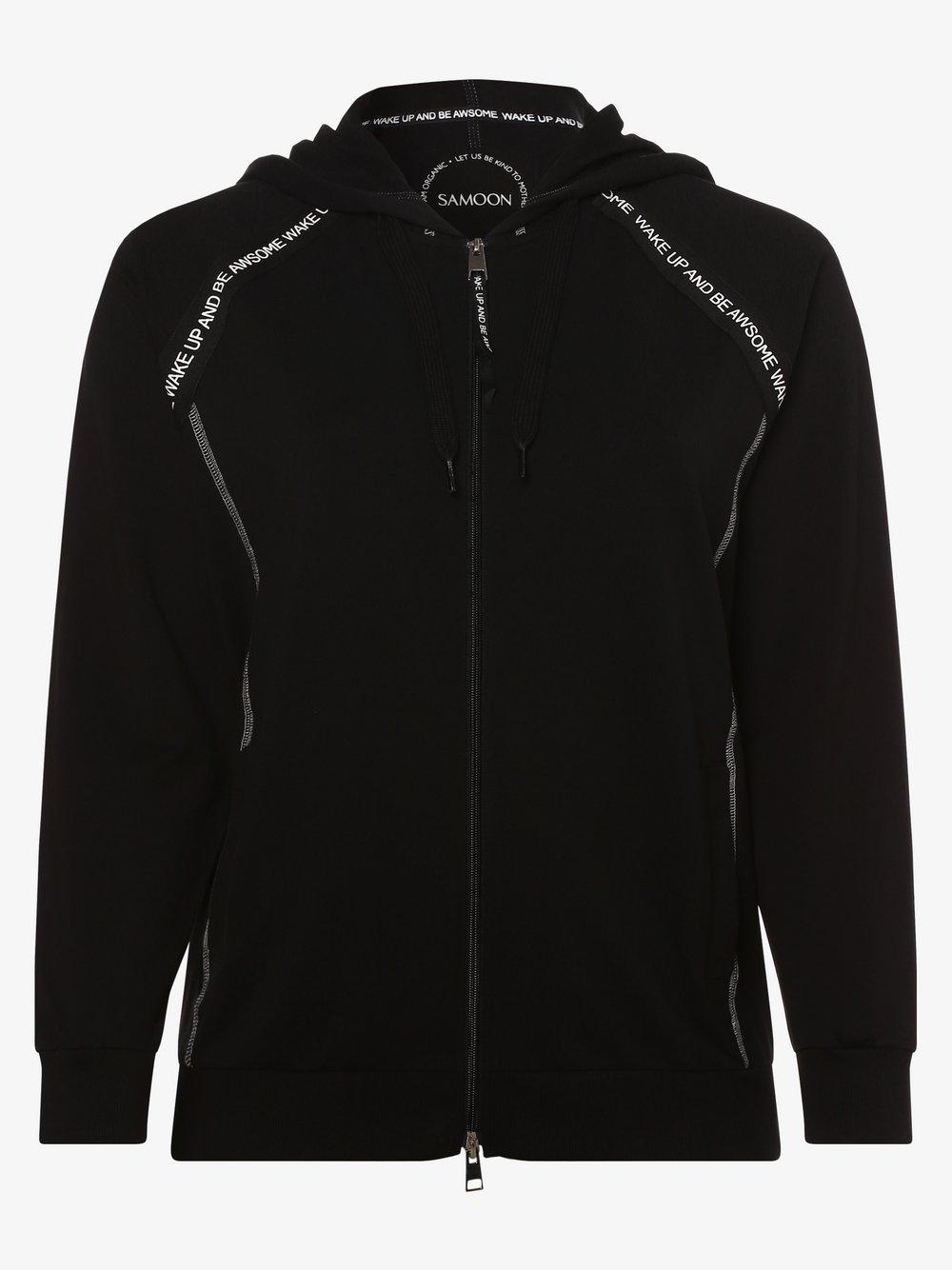 Samoon - Damska bluza rozpinana, czarny