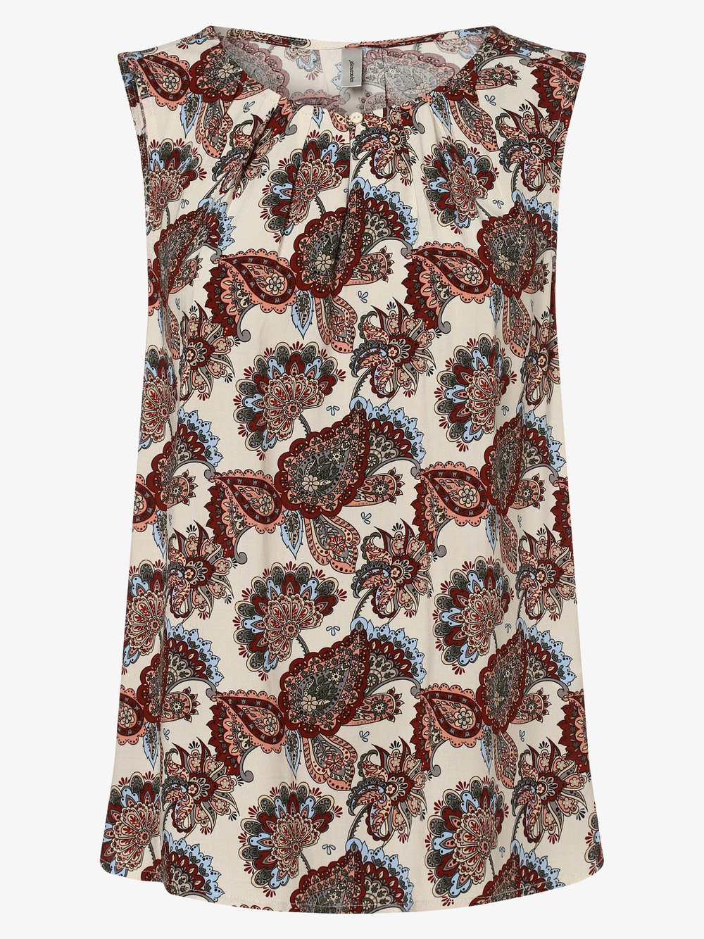 soyaconcept® – Damska bluzka bez rękawów – SC-Idalou 1, beżowy Van Graaf 470903-0001