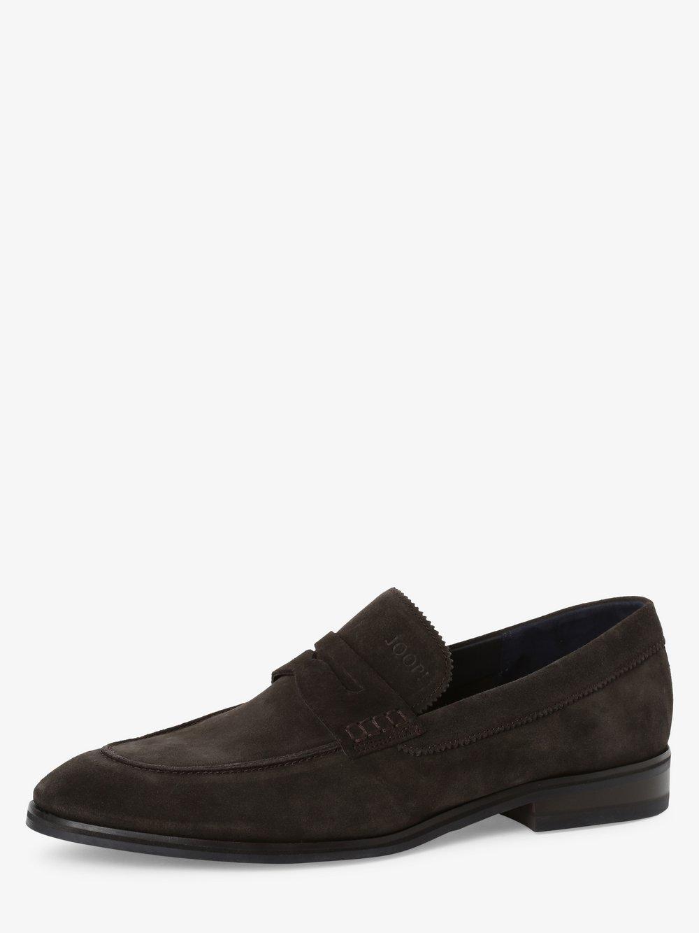 Joop - Skórzane loafersy męskie – Kleitos, brązowy