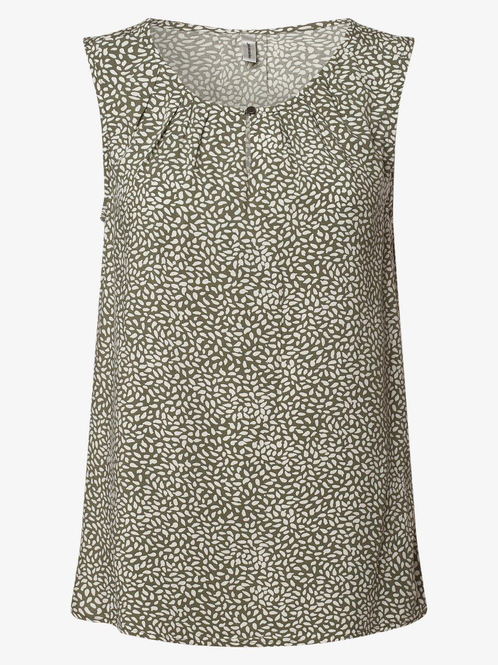 soyaconcept® – Damska bluzka bez rękawów – SC-Immely 1, zielony Van Graaf 471023-0001-09970