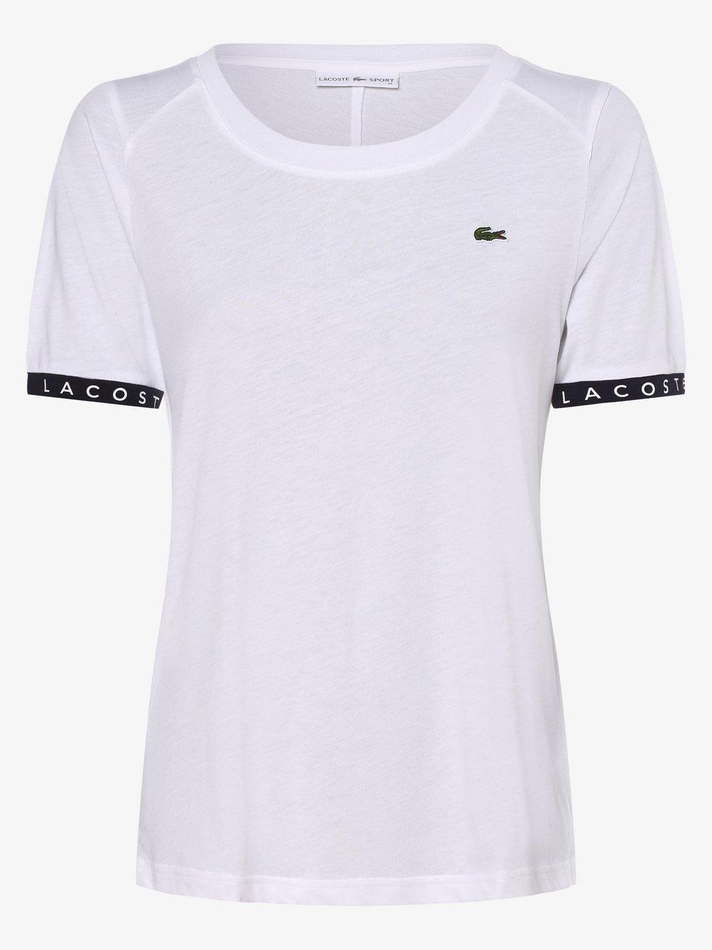 Lacoste - T-shirt damski, biały